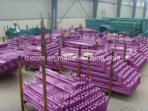 Powder Coated Square Steel Tube Type Guard Bar for Construction