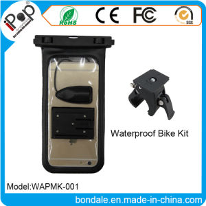 Waterproof Pouch Earphone Jack and Bike Mount with Install The on The Handlebar