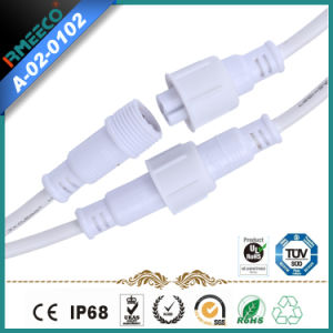 Hot Sales Waterproof Cable Connector 3 Pins with White Color