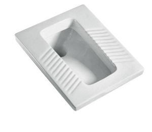 Bathroom Design Wc Pan Quality White Ceramic Squat Toilet Pan pictures & photos