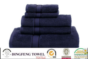 100% Cotton Yarn Dyed Towel Set with Satinborder pictures & photos