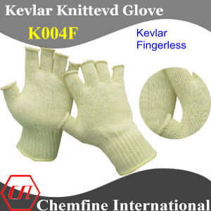 Kevlar Knitted Fingerless Glove pictures & photos