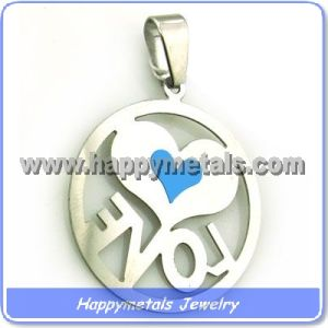 Stainless Steel Pendant with Letters (P10101-1)