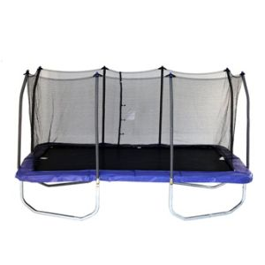 9X15FT Rectangle Trampoline with 4 Legs and Safety Enclosure Net