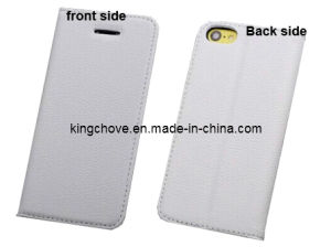 Fashion and Best Selling White Leather iPhone 5 Case (KCI02-4)