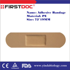 High Quality OEM 72*19mm PE Material Skin Color Adhesive Bandages pictures & photos
