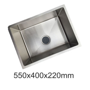 One Piece Ss201 Stainless Steel Single Bowl Kitchen Sink (YX5540)
