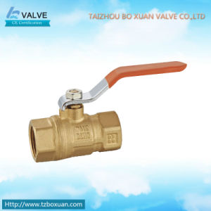 Brass Ball Valve with Lever Handle and Original Color (BX-1016)