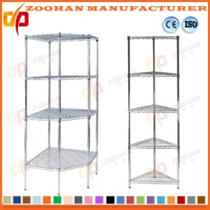Metal Chrome Wire Display Cabinet Plan Storage Shelving Units (Zhw93)