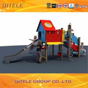 Childern Playground Bule&Red House Climber&Slide (PE-04901) pictures & photos