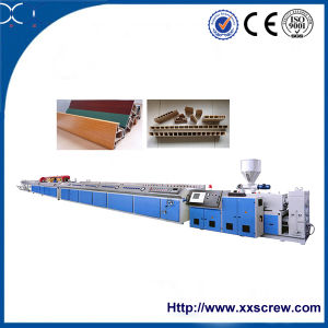 Conical Twin Screw PVC Profile Extruder pictures & photos