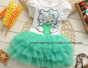 4f4cd31c7 China Girls′ Summer Dresses Printed with Hello Kitty Cute Children ...