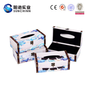Customized OEM Tissue Wooden Box (SCTB00013)