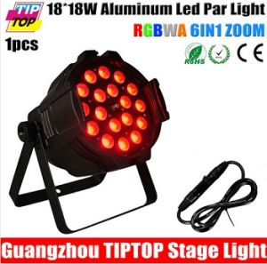 New 18*18W RGBWA UV 6in1 LED Zoom PAR Light DMX 8/12 Channels Taiwan Tianxin LEDs