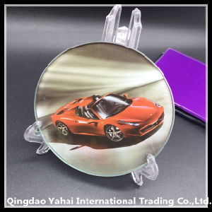 4mm Tempered Glass Coaster with Decal Pattern pictures & photos