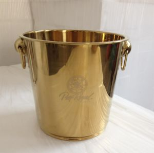 Stainless Steel Ice Bucket Gold Plated Cooler Bucket pictures & photos