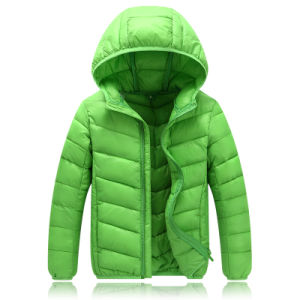 2016 High End Custom Men Hooded Duck Down Jacket with Thigh Length 601