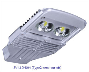 40W IP66 LED Outdoor Street Light with 5-Year-Warranty (Semi-cutoff)