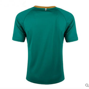 100% Polyester Plain Green Running T-Shirt with Printing Logo pictures & photos