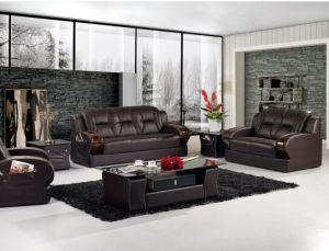 Living Room Sofa With Modern Genuine Leather Set