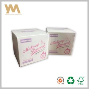 Custom Iridescent Paper Packing Box for Make-up Removal pictures & photos