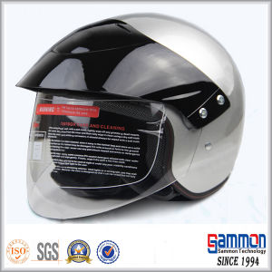 c4bf8951 China Silver Open Face Motorcycle/Scooter Helmet with King-Size Visor  (OP211) - China Motorcycle Helmets, Scooter Helmets