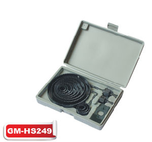 16PC Carbon Steel Hole Saw Set (GM-HS249) pictures & photos