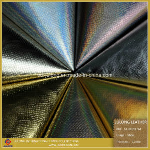 Good Quality Laser Film Synthetic Leather (S110) pictures & photos