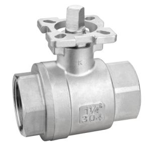 CF8/CF8m 2PC Bsp/BSPT Thread Ball Valve with ISO5211 Mounting Pad