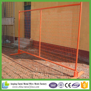 China Orange Color 3.5mm Metal Wire Welded Mesh Panel Temporary ...