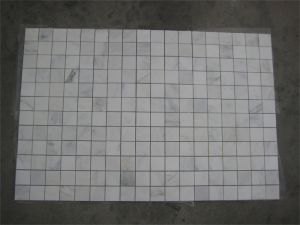 Oriental White Marble Stone Mosaic Floor Tile for Bathroom