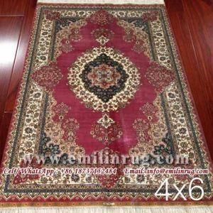Oriental Persian Silk Rug Carpet
