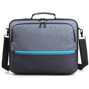 Gray Laptop Bag Briefcase with Single Shoulder Strap pictures & photos