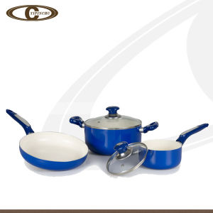 Light Blue Cookware Set with Ceramic