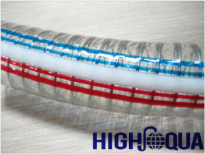 Clear Steel Wire Reinforced PVC Hose pictures & photos