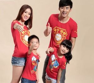 China World-Cup Parent-Children Clothing T-Shirt