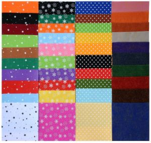 China Crafts Diy Polyester Felt Nonwoven Fabric Sheet For Craft Work