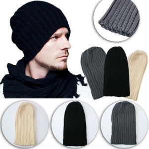 Unisex Oversized Cap Ski Warm Knitted Wool Winter Beanie pictures & photos