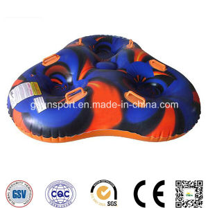 Inflatable Wedge Snow Tube Sled with Handles