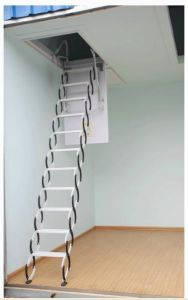 China Practical Hydraulic Telescopic Folding Attic Ladders Small