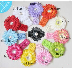 Euro New Style 12 Colors Baby Daisy Flower Hair Band