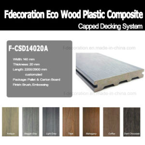 Co-Extrusion Outdoor Flooring Plastic Wood WPC Composite Decking