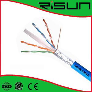 Solid Bare Copper 23AWG 4pr FTP CAT6 Cable with PVC Jacket (250MHz) Fluke Test Passed pictures & photos