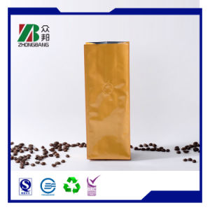 Disposable Side Gusset Zip Lock Coffee Bags with One Way Valve pictures & photos