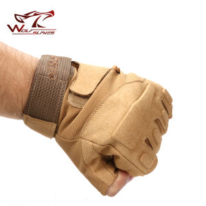 Special Operation Tactical Half Finger Assault Gloves Blackhawk Gloves pictures & photos
