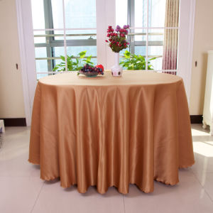 Wholesale Polyester White Round Table Cloth Wedding Tablecloth Party Table  Cover Dining Table Linen