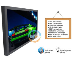 "Metal Case TFT Color 18.5"" LCD Monitor with 12V DC Input (MW-181MB) pictures & photos"