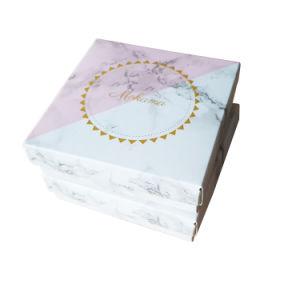 Custom Logo Marble Paper Card Earring Box Holder Jewellery