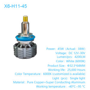 4-Side H11 Auto Car LED Headlight Kits 60W 6000LM Bulbs Power 6000K Accessories