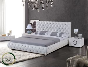 China Modern Style Furniture Classical Leather Bed For Bedroom